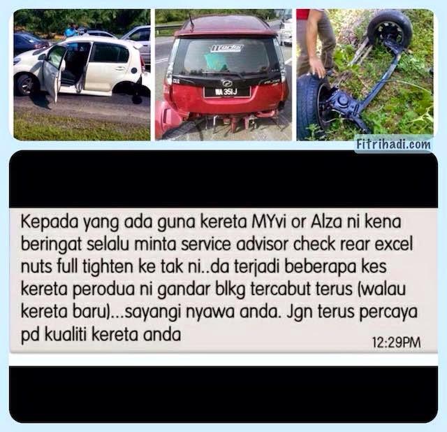(Penjelasan) CEO Perodua Nafi Roda Belakang Mudah Tercabut 1