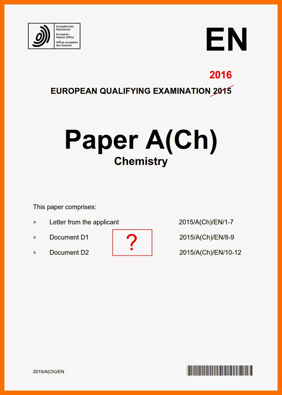 deltapatents eqe a ch a chemistry 2016 first impressions