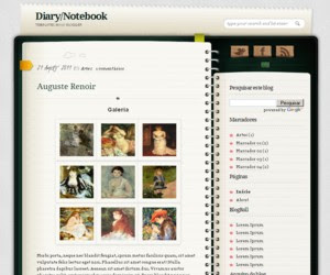 Diary / Notebook Blogger Template