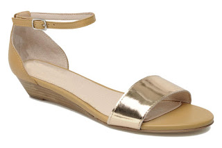 Mellow Yellow gold and beige sandals