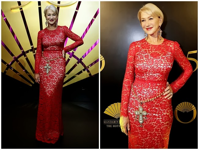 Helen Mirren - Mandarin Oriental Hong Kong's 50th Anniversary Gala on 17 October 2013