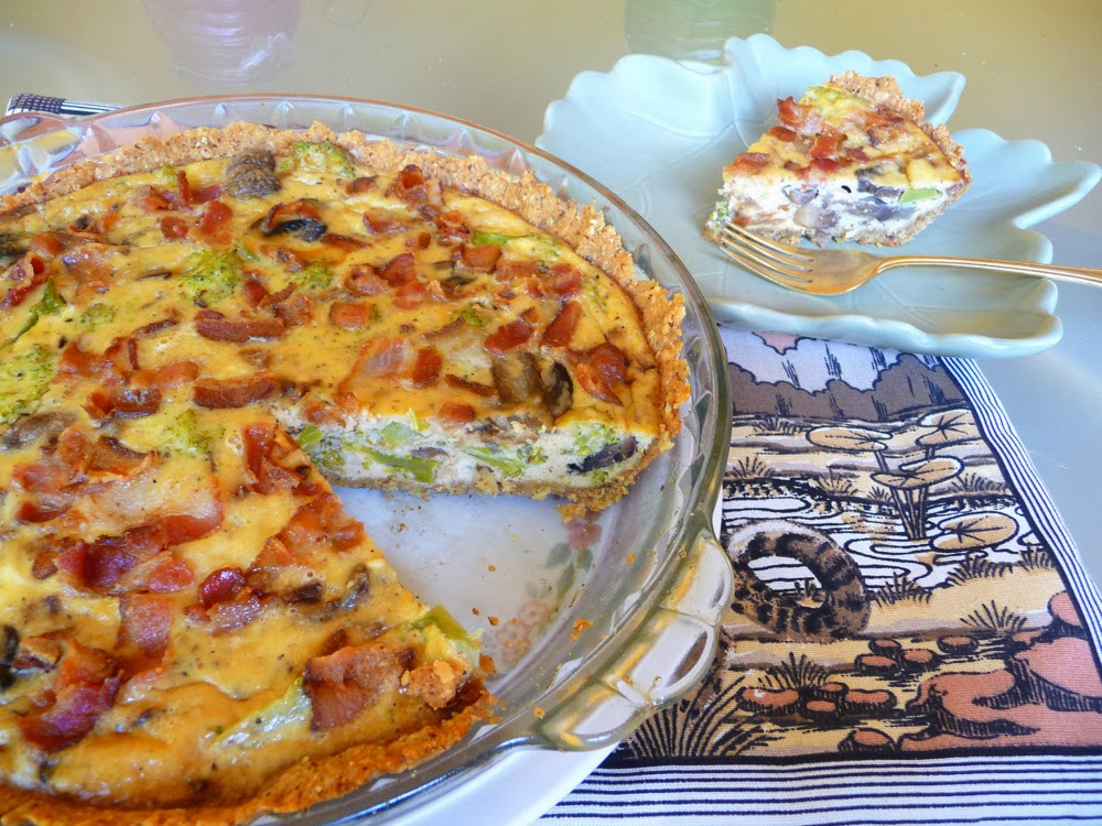 over the top mushroom quiche mushroom quiche broccoli and cheddar ...