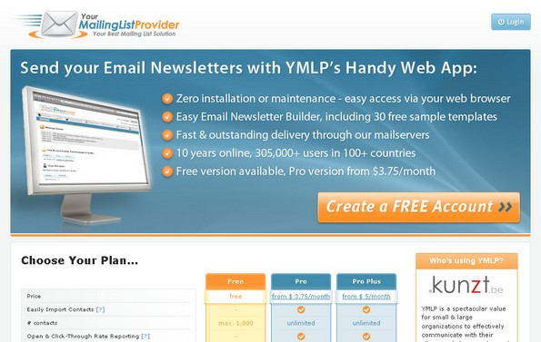 YMLP newsletter web application