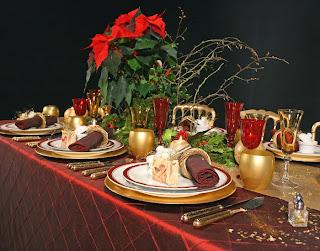 Centros de Mesa de Navidad Rojos, parte 2