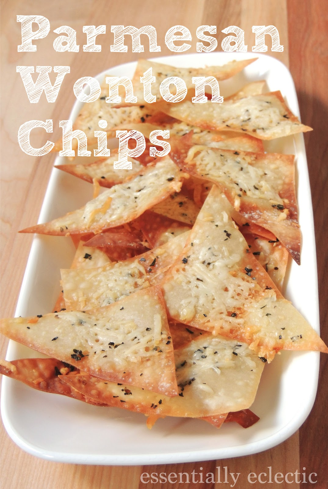 Parmesan Wonton Chips | Essentially Eclectic