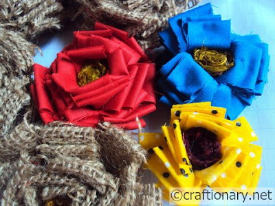 Ткань-мешковины, джута, крафт-идей