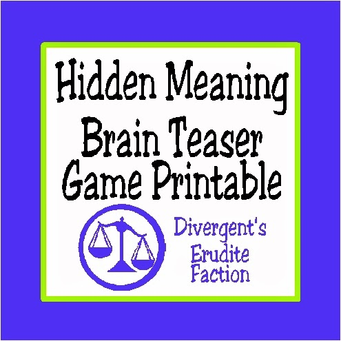 Hidden Meaning Brain Teaser Free Printable Game | Kandy Kreations