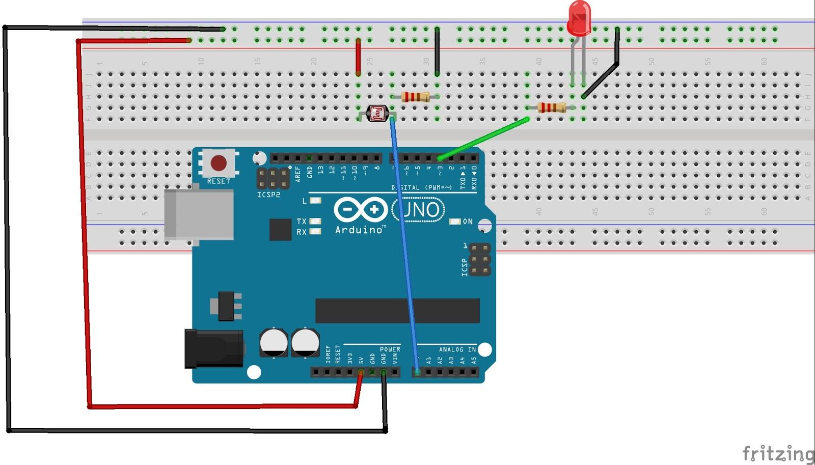 My Tinkering With Arduino: Interfacing Photo Resistor With Arduino