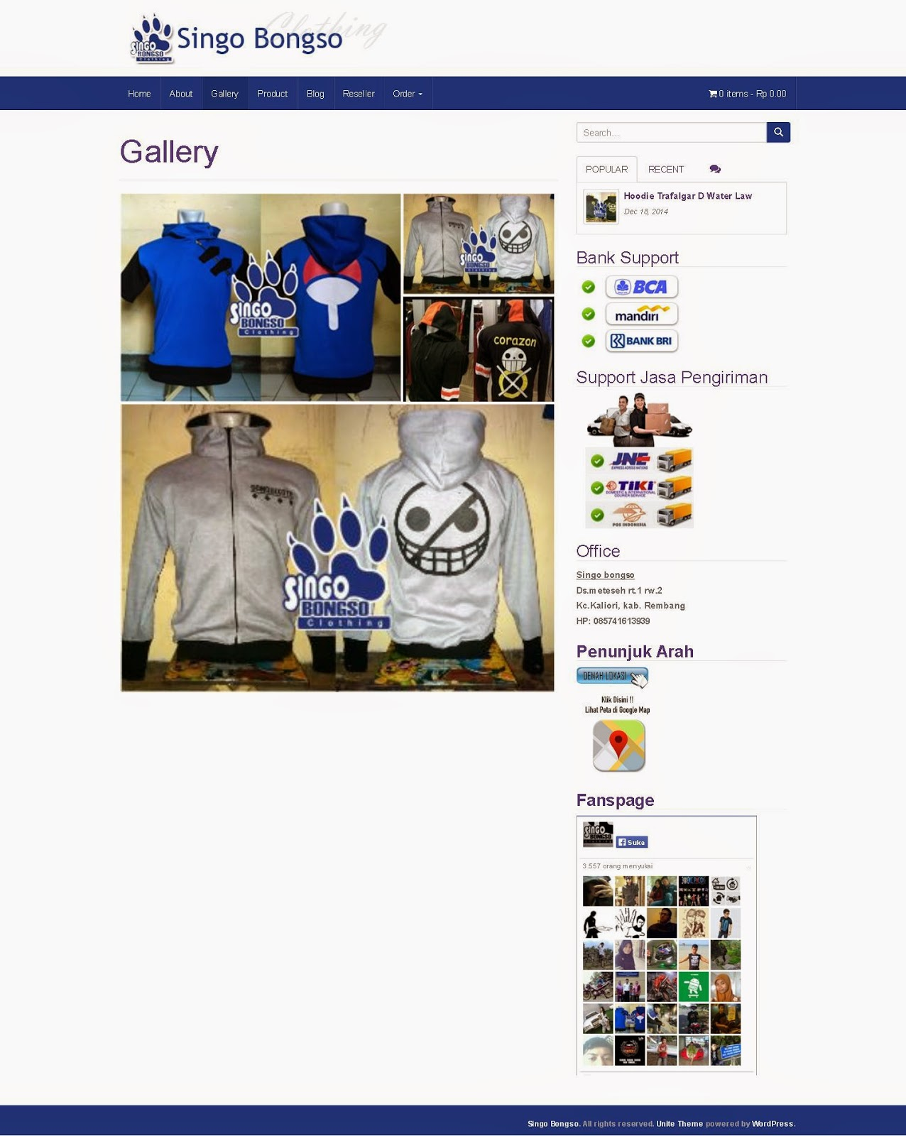 jasa pembuatan Website Konveksi Clothing