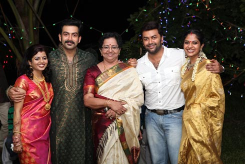 Malayalam Actor Prithviraj Sukumaran And Supriya Menon ...