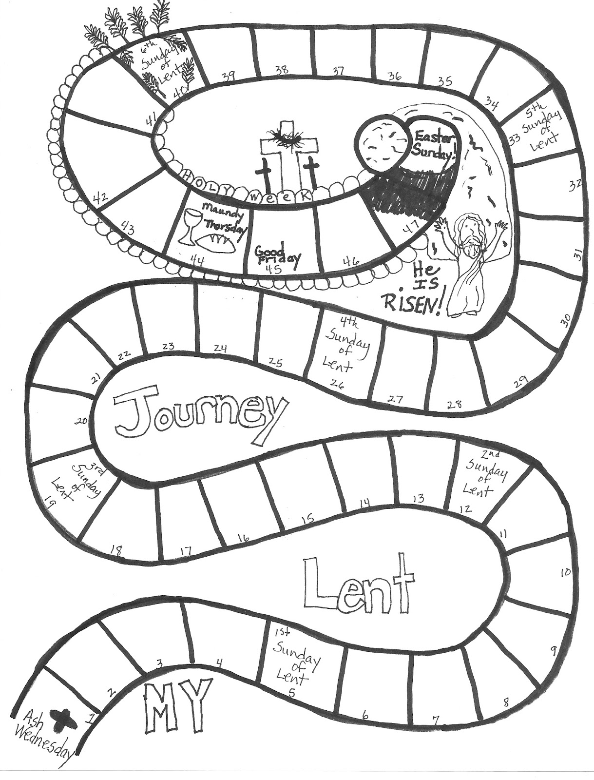 coloring pages for lent - photo #13