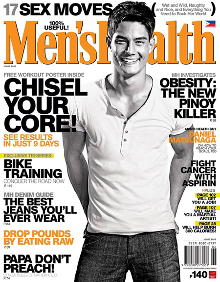 Daniel Matsunaga Covers Men's Health PH June 2013 issue