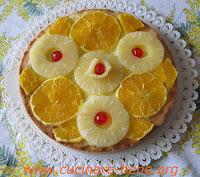 ricetta crostata ananas e arance