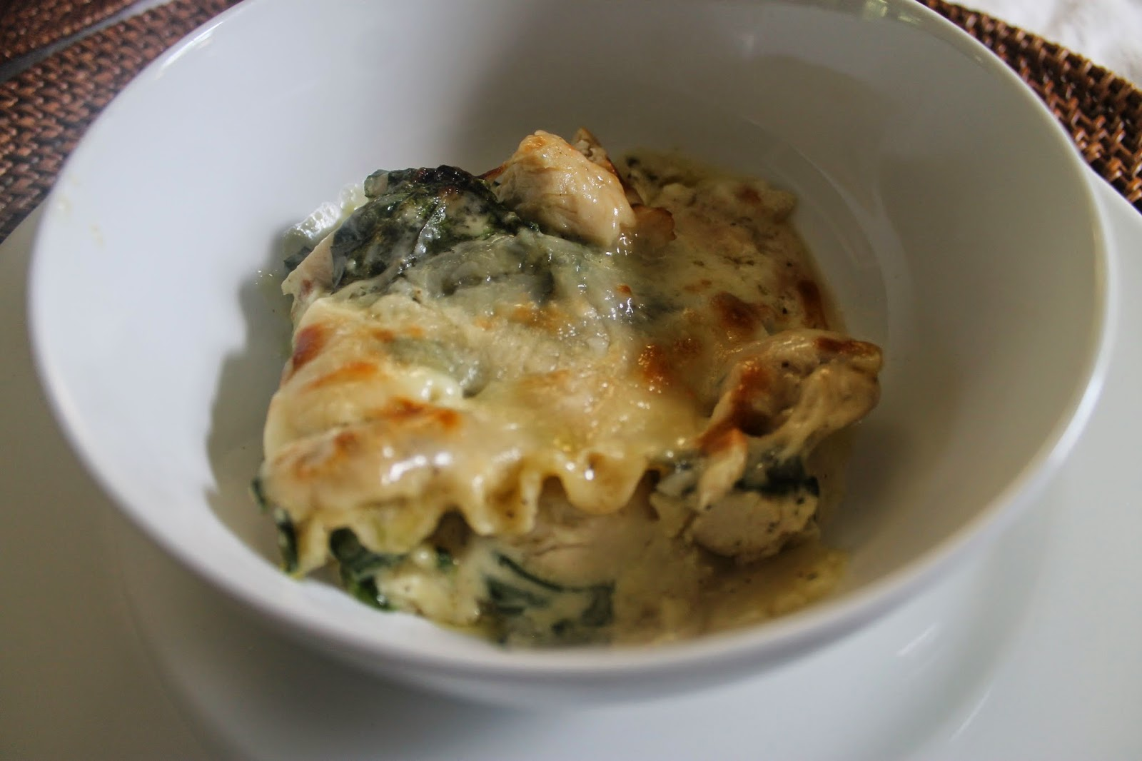 B 39 more bungalow in the kitchen chicken and spinach for Spinach chicken lasagna recipe