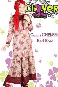 Clover Clothing Chelsea Rose - Red (Toko Jilbab dan Busana Muslimah Terbaru)