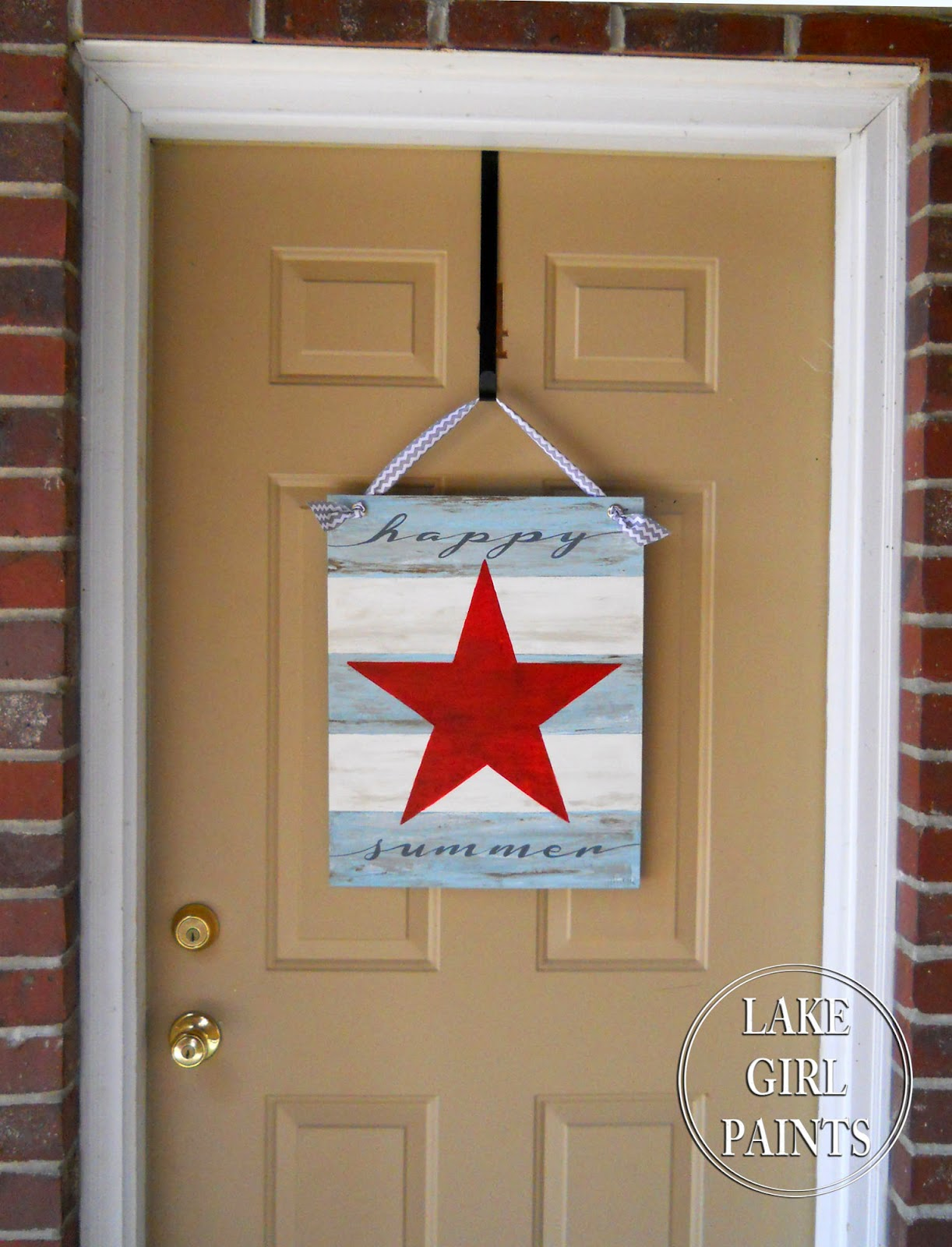 So using a 16 x 20 inch canvas panel & Lake Girl Paints: Happy Summer Star Canvas