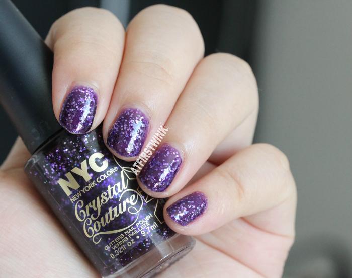 NYC Crystal Couture glitters nail polish 013 - NY Princess swatch