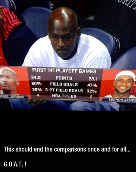 Michael Jordan vs LeBron James. This should end the comparisons once and for all G.O.A.T. ! #nba #lebronjames #michaeljordan #comparison