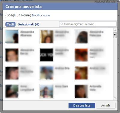 liste amici facebook