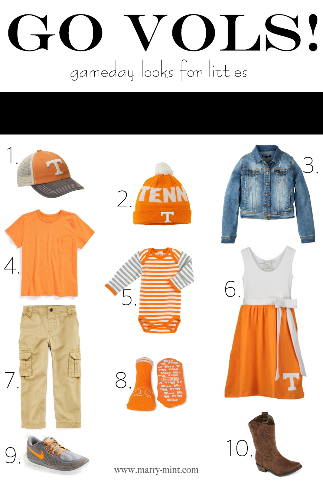 kids tennessee clothing