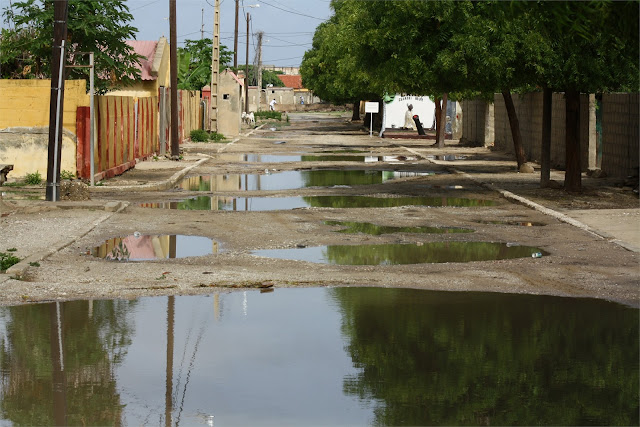 Encharcadas calles del barrio francés de St. Louis