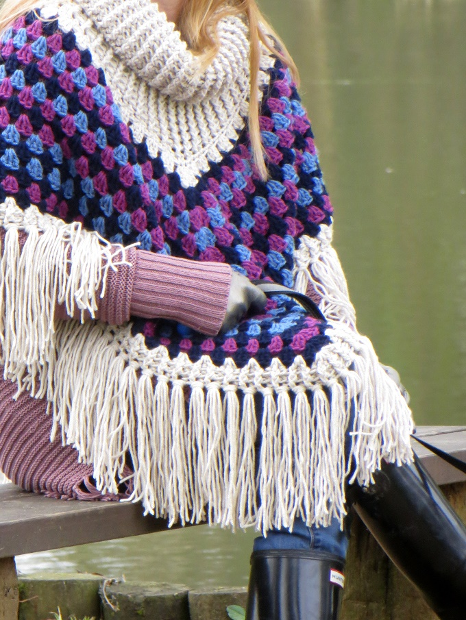 That Simply Crochet Granny Poncho Is Finally Finished And Goes For A