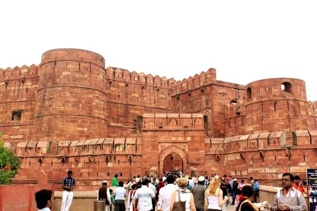 The World Reporter at Agra Fort