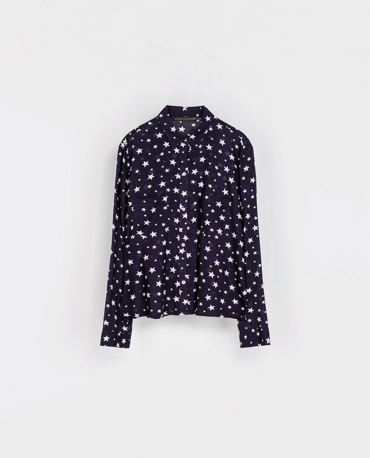 zara star blouse