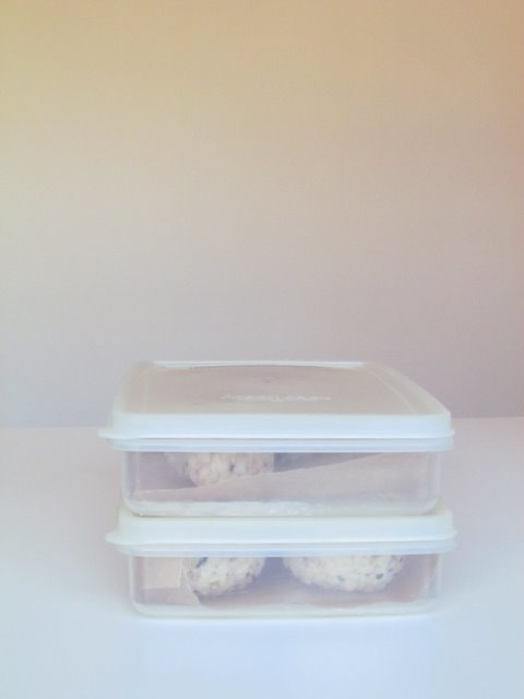table etc.: sesame almond brown rice balls