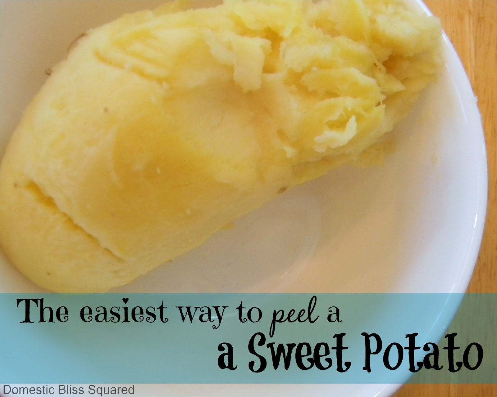 how to peel and boil a sweet potato