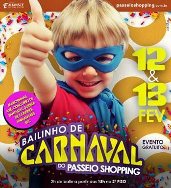 Passeio Shopping anima o Carnaval dos pequenos com grande baile