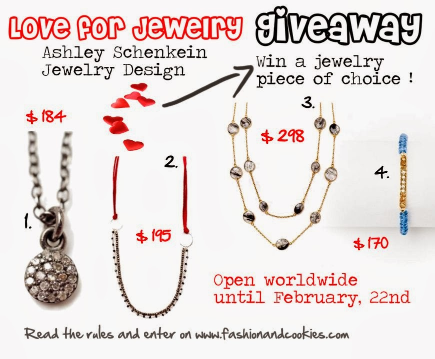 Ashley Schenkein Jewelry Giveaway, $300, Fashion and Cookies