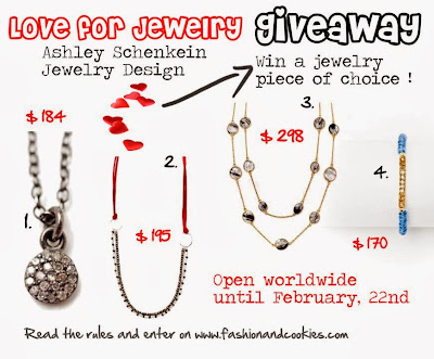 Love for Jewelry Giveaway on Fashion and Cookies, $300