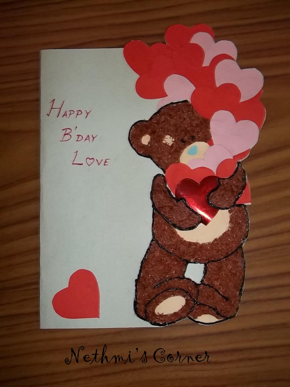 My teddy birthday card nethmis corner kristyandbryce Images