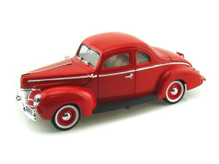 1940 Ford Coupe 1/18 Red 1:18 Scale Diecast Model Car