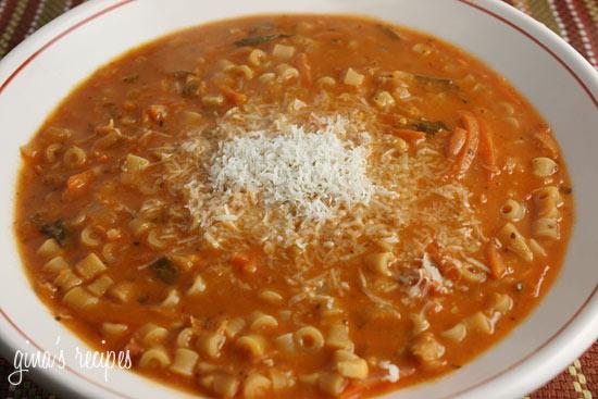 The No Meat Mama: Pasta Fagioli 4/5 Spoons