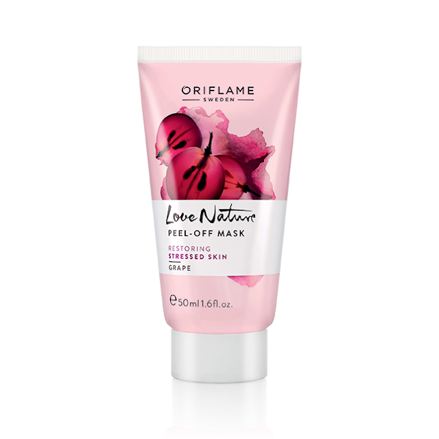 Máscara Peel-Off com Uva Love Nature da Oriflame