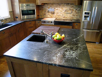 Kitchen Stopping Soapstone Island