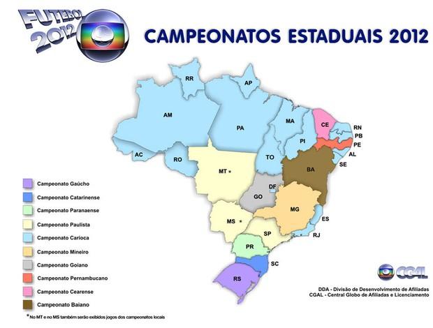 Veja os jogos dos campeonatos estaduais 2012 que serão transmitidos pela Globo
