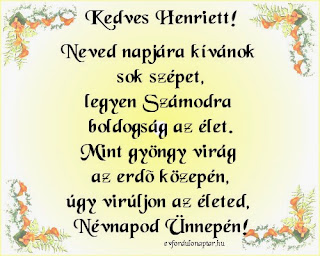 Március 16 - Henriett