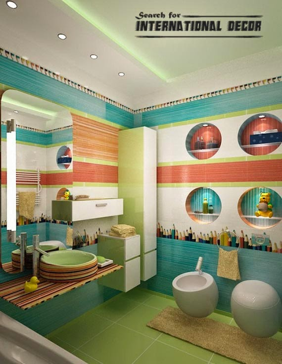 18 cool kids bathroom decorating ideas - Kids bathroom design ...