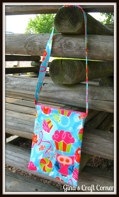 Appliqued Owl Crossover Bag