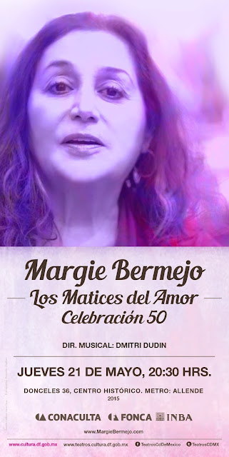 Celebra Margie Bermejo 50 años de trayectoria en el Teatro de la Ciudad Esperanza Iris