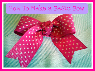 Free Hair Bow Tutorial