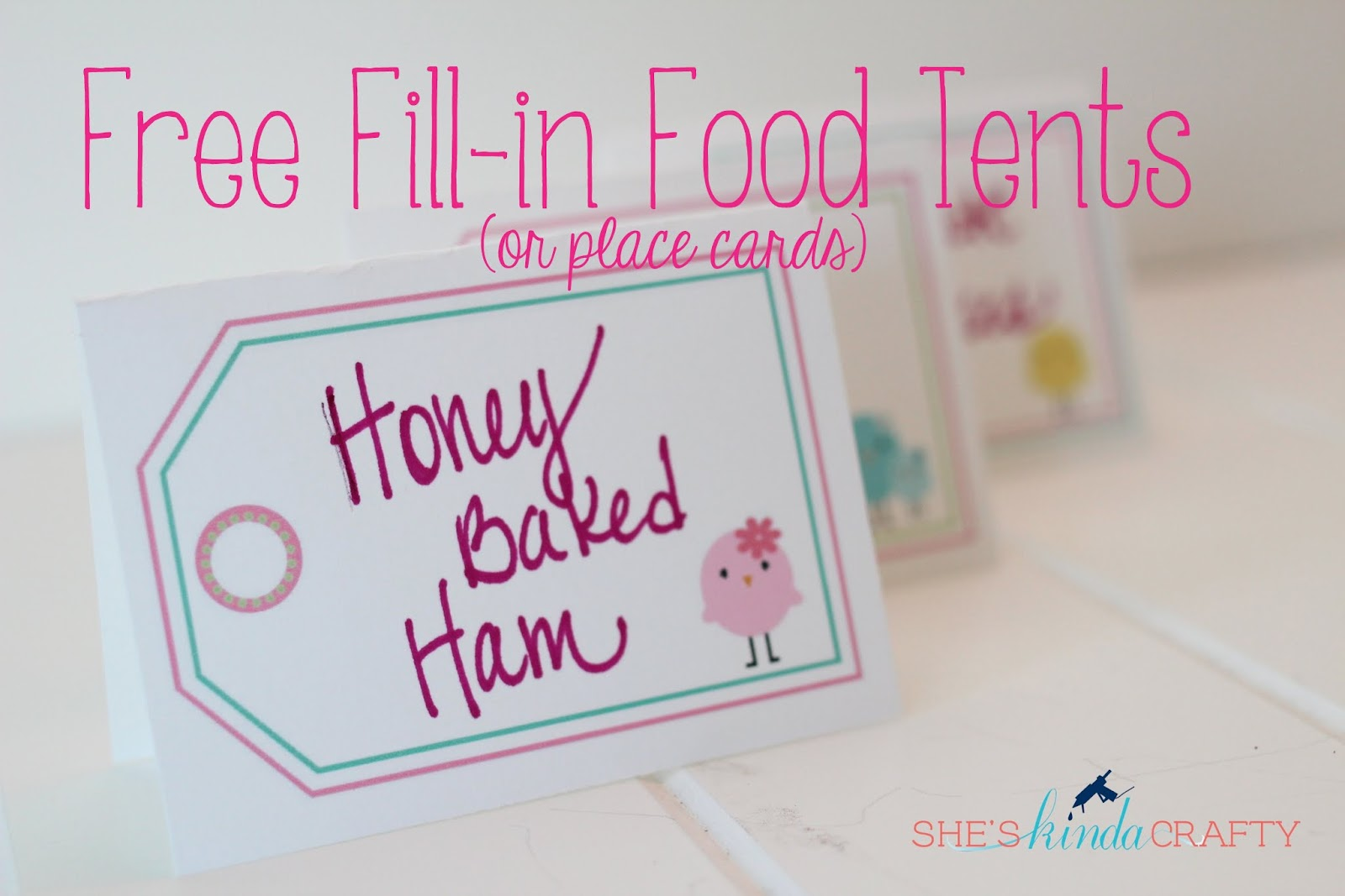 Table Tent Printable & Little Birdie Food Tents | Free Printable - Shes kinda Crafty
