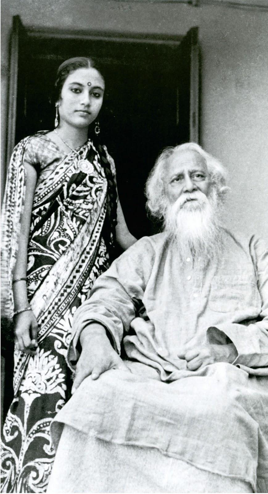 Rabindranath tagore with a student of shantiniketan old for Shantiniketan tagore