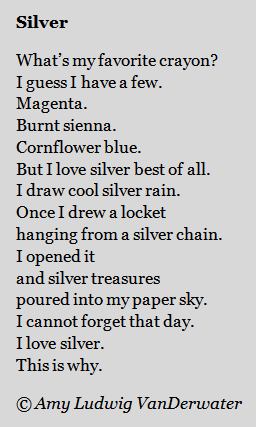 The Poem Farm: S is for SILVER & S is for SYLVIA!