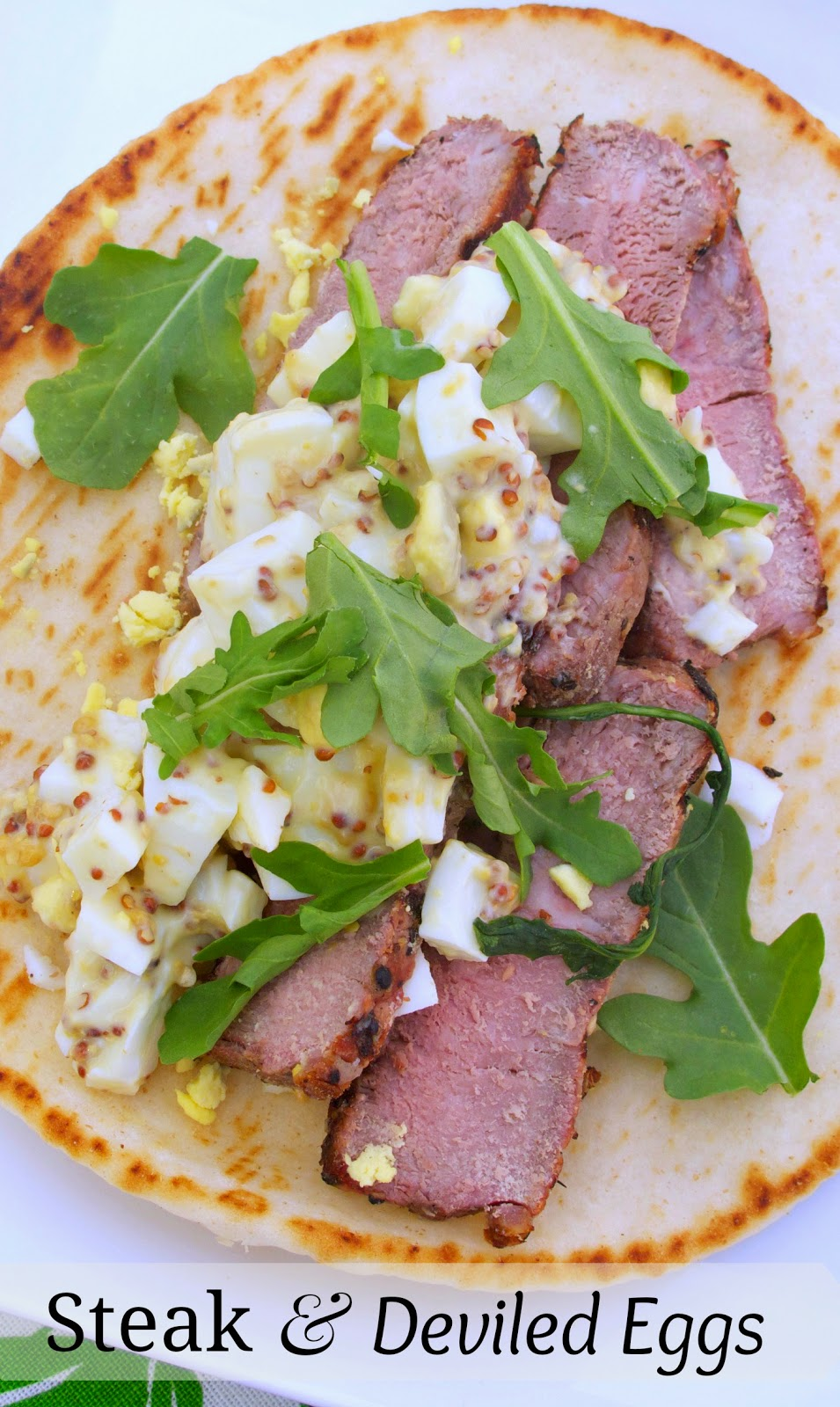 Grilled Steak and Deviled Egg Pita Sandwiches