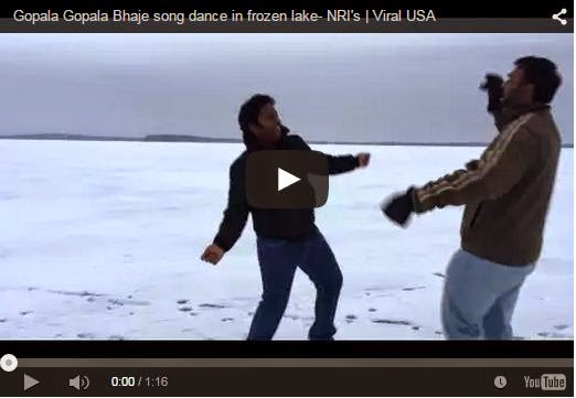 Gopala Gopala Bhaje song dance in frozen lake