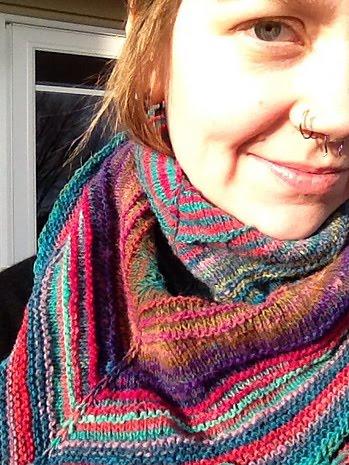 Knit a striped scarf: free knitting pattern :: allaboutyou.com